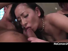 Busty Hot Japan Milf Three Way Fuck