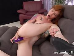 Swollen Pussy, Masturbation, Pornstar, Pussy, Redhead, Toys