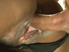 Big booty ebony interracial fucked at the office