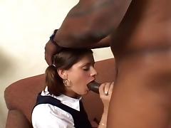 A Schoolgirl Fucked By A Black Man
