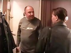 Dad invites his twats round to fuck his girl