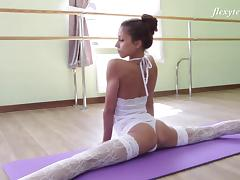 Russian, Flexible, Lingerie, Russian, Solo, Stockings