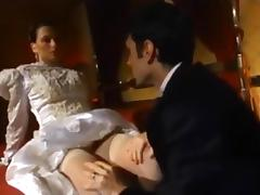 Brunette, Anal, Assfucking, Bride, Brunette, Stockings