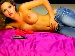Topless Beauty In Jeans On Erotic