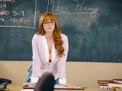 Naughty Penny Pax seduces a lucky fellow with her body