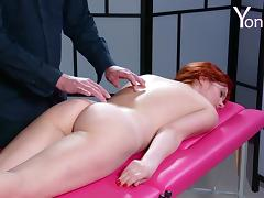 Horny redhead likes a man playing with her pulsating vagina