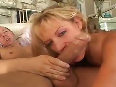 Plaid Clad Tina Fine Blowing Dick