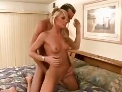 Drain in a cool blonde pussy