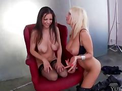 Puma Swede and Yuri Luv have fun with an erected boner
