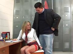 Mature fellow wants to play with hot blonde Sasha Rose's body
