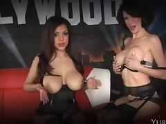 Gorgeous brunette Yuri Luv knows how to make her friend's pussy wet