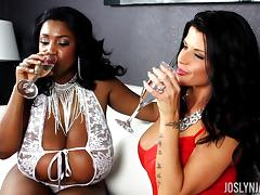 Joslyn James and Maserati XXX in a cool FFM action