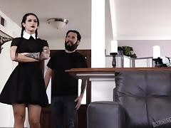 eating out a goth chick's cunt