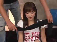 Sexy gangbang for small tits, Momoka Rin