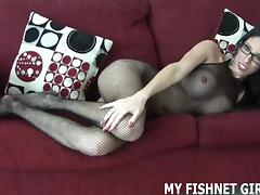 Rub your cock on my silky soft body stocking JOI
