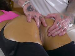 Martina Gold swallows after a jaw dropping anal fuck