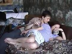 Russian mom Dina with her boy 1