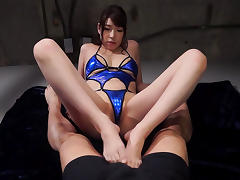 Mio Kayama in Mio Showing Off Her Sexy Blue Bikini - EritoAvStars