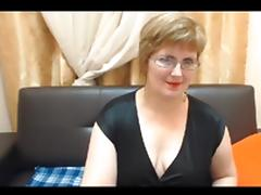 Mature web model strips and opens up