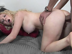 Slutty coed Nicki Blue takes a big cock in her tight butt