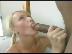 Blonde Pool Cleaner Gets BBC In Every Hole