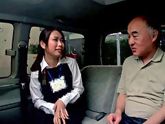Emiri Toda in Tour Guide Gets Screwed In A Van - CosplayInJapan