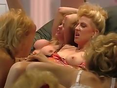 Best pornstar Nina Hartley in incredible blonde, rimming sex scene