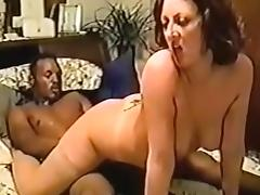 Sexy brunette loves big black cock in her horny pussy