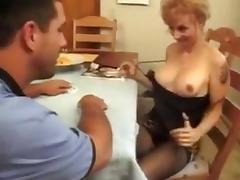Horny mature turns cards for cock