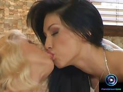 Jasmine and Mya Diamond with wet dildo sessions