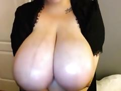 Huge boobs oil