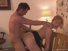 She enjoys moaning while being fucked hard
