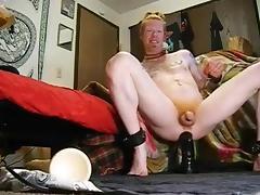 a redhead and his really big vibrator
