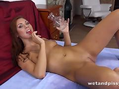 sexy babe loves to drink piss