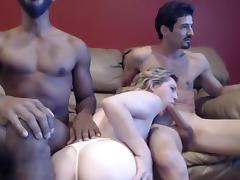 Horny Amateur movie with Threesome, MILF scenes
