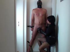 Gloves, Femdom, Gloves, Handjob, Leather