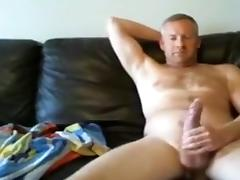 She watches him jerk and cum after getting fucked