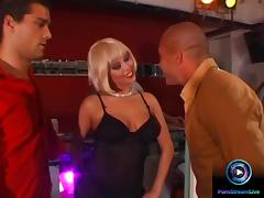 Alissa savoring the moment fucking three guys