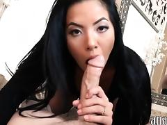 Sexy asian woman tries out anal sex while being filmed
