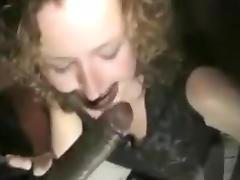 Two blonde milfs sucks big black dick and gets ass hole drilled deeply