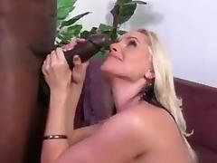 sexy blonde MILF takes BBC