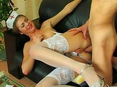 Nurse gets her asshole drill