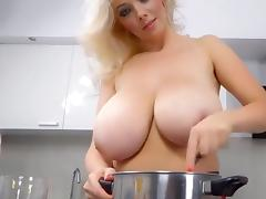 Beautiful blonde miracle cup huge titties iii