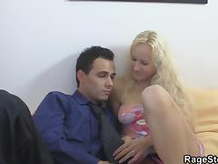 He fucks czech blonde gf from behind real rough
