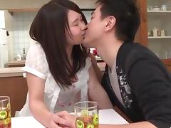 Sanae Akino blows hubby before going to work