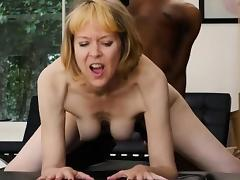 Mature MILF Fucks Young Black Guy