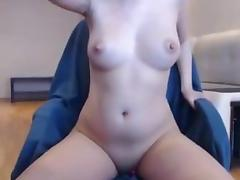Sexy babe big pert tits boobs hard nipples & sucking cock