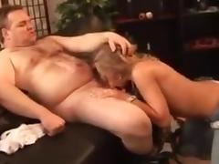 Fat man fuck college girl