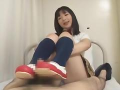 Fabulous Japanese girl Karin Hanase in Hottest Foot Fetish JAV video