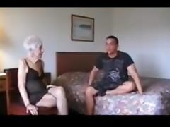 Grandma enjoys junior cock